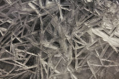 Wallpapered ice in macro on the river. Royalty Free Stock Image