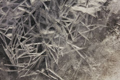 Wallpapered ice in macro on the river. Stock Photography