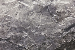 Wallpapered ice in macro on the river. Royalty Free Stock Photography