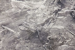 Wallpapered ice in macro on the river. Royalty Free Stock Photos