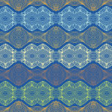 Wallpaperen eller textilen för Seamless 70-tal mönstrar den etniska Royaltyfri Bild