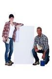 Wallpapering Fotos de Stock