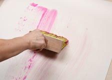 Wallpapering. Stock Photos