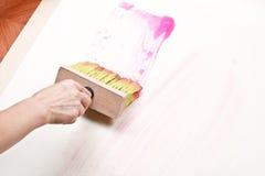 Wallpapering. Imagens de Stock