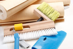 Wallpapering tools Stock Photography