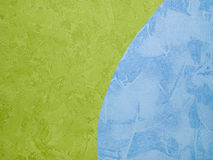 Wallpapers. Green and blue wallpapers (on the wall Royalty Free Stock Photos