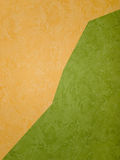 Wallpapers. Orange and green wallpapers (on the wall Stock Photos