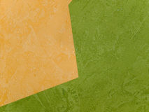 Wallpapers. Orange and green wallpapers (on the wall Stock Images