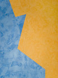 Wallpapers. Orange and blue wallpapers (on the wall Stock Photos