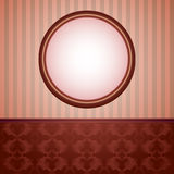 Wallpapers And Round Frame Royalty Free Stock Images