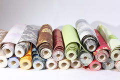Wallpapers, close up. bright rolls Royalty Free Stock Photos