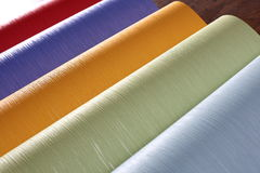 Wallpapers, close up. bright rolls Royalty Free Stock Photo