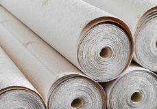 Wallpapers. Closeup of rolled wallpapers Royalty Free Stock Photo