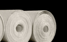 Wallpapers. Closeup of rolled wallpapers Stock Photo