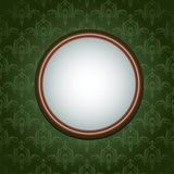 Wallpapers ornament and round frame Royalty Free Stock Image