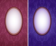Wallpapers with oval frame vertical Royalty Free Stock Images