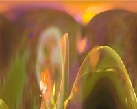 Wallpapertemplatecurl фона дизайна фантазии энергии концепции текстуры воображения абстрактной цифровой науки фрактали современно иллюстрация штока