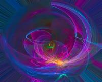 Wallpapertemplatecurl фона дизайна фантазии энергии концепции текстуры воображения абстрактной цифровой науки фрактали современно иллюстрация вектора