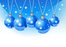 Wallpapper with christmas toys. Royalty Free Stock Photos