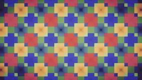 Wallpapwer vermelho abstrato do teste padrão do bloco do amarelo do verde azul Fotografia de Stock Royalty Free
