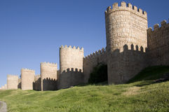Walls of Ávila near Puerta del Carmen, Spain Stock Photography