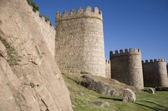 Walls of Ávila, Spain Stock Photo