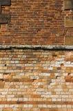 Walls. Two walls made of hand made bricks, 1800's Royalty Free Stock Photo