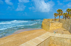 The walls of Acre Stock Image