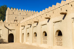 Walls of Al Jahili Fort in Al Ain Royalty Free Stock Photo