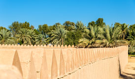 Walls of Al Jahili Fort in Al Ain Royalty Free Stock Images
