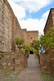 Walls of the Alcazaba Royalty Free Stock Images