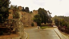 Walls of the alcazaba Stock Image