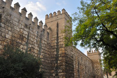Walls of the alcazar Royalty Free Stock Images