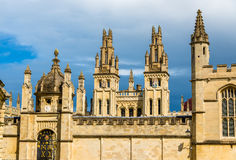 Walls of All Souls College in Oxford Stock Photography