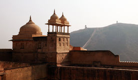 Walls at Amber Fort near Jaipur, India Stock Photos