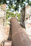 Walls of ancient cannon Royalty Free Stock Photos