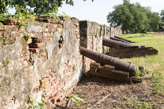 Walls of ancient cannon Stock Image