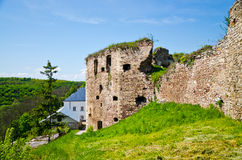 Walls of ancient castle Stock Images