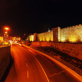 Walls of Ancient City, Jerusalem, Israel Stock Photos