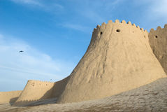 Walls of an ancient city of Khiva Royalty Free Stock Photos