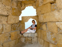 The walls of the ancient city. Royalty Free Stock Photo