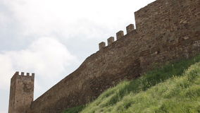 The walls of ancient fortress. The walls of the ancient fortress stock footage