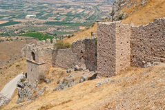 Walls of the ancient fortress. Royalty Free Stock Images