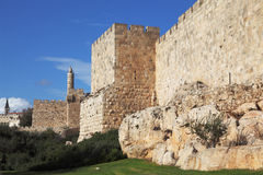 Walls of ancient Jerusalem Royalty Free Stock Images