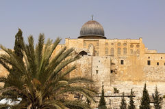 The walls of ancient Jerusalem Royalty Free Stock Images