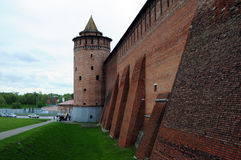 Walls of the ancient Kremlin Royalty Free Stock Photography