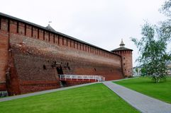 Walls of the ancient Kremlin Royalty Free Stock Images