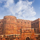 Walls of the ancient Red Fort in Agra, India Royalty Free Stock Images