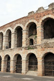 Walls of the ancient Roman Arena in Verona Royalty Free Stock Photography