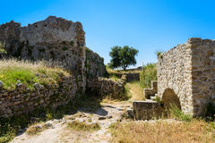Walls of Angelokastro castle. Stock Photography